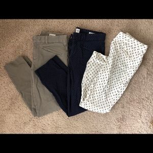 GAP dress pants (set of 3)